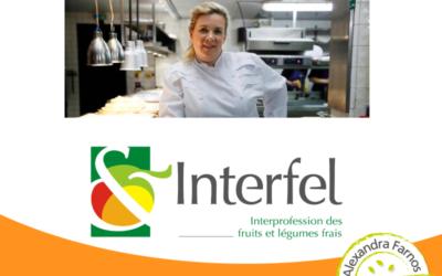 Hélène Darroze, ambassadrice Interfel de l'année internationale des fruits et des légumes